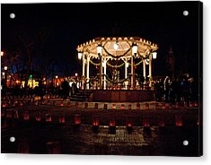 Old Town Luminarias And Bandstand Acrylic Print