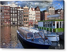 Old Town Of Amsterdam In Netherlands Acrylic Print by Artur Bogacki