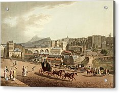 Old Town Of Edinburgh Acrylic Print by British Library