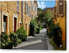 Old Town Of Valbonne France  Acrylic Print by Christine Till