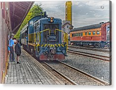 Acrylic Print featuring the photograph Old Town Sacramento Railroad by Jim Thompson
