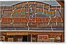 Old Town Saloon Acrylic Print