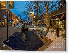 Old Town Snow Acrylic Print