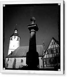 Old Town Waldenbuch In Germany Acrylic Print by Matthias Hauser