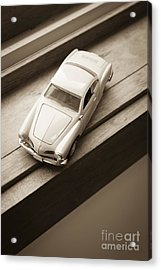 Old Toy Car On The Window Sill Acrylic Print by Edward Fielding