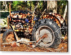 Old Tractor 01 Acrylic Print by Andy Savelle