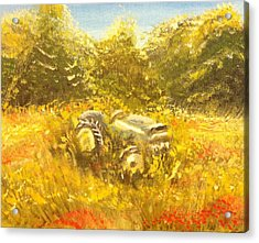 Old Tractor Acrylic Print by Hollie Ward