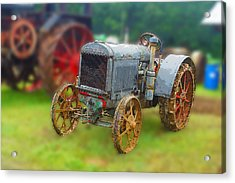Acrylic Print featuring the photograph Old Tractor Print by B Wayne Mullins