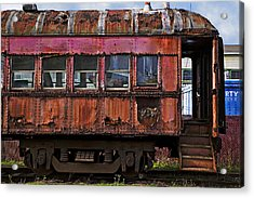 Old Train Car Acrylic Print by Garry Gay