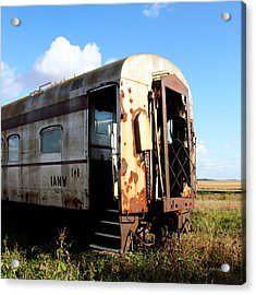 Old Train Car Acrylic Print