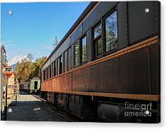 Old Train Coach Acrylic Print by Malu Couttolenc