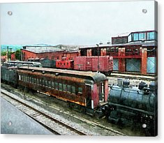 Old Train Yard Acrylic Print