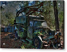 Old Truck 01 Acrylic Print by Andy Savelle