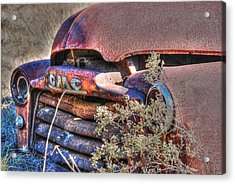 Old Truck 03 Acrylic Print by Andy Savelle
