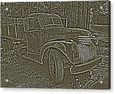 Acrylic Print featuring the photograph Old Truck In Sepia by Betty Depee