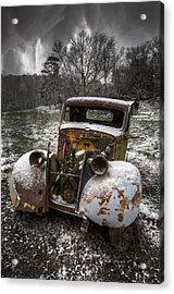 Old Truck In The Smokies Acrylic Print by Debra and Dave Vanderlaan