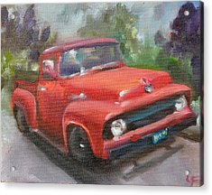 Old Truck Acrylic Print by Lindsay Frost
