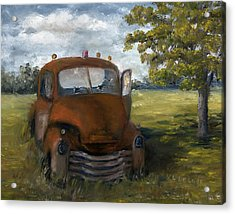Old Truck Shreveport Louisiana Wrecker Acrylic Print