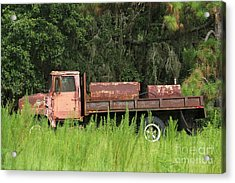Old Truck Acrylic Print by Theresa Willingham