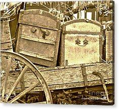 Old Trunks In Genoa Nevada Acrylic Print