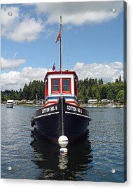 Old Tug Acrylic Print by John Bushnell