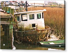 Old Tugboat By Jan Marvin Acrylic Print
