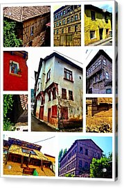 Acrylic Print featuring the photograph Old Turkish Houses by Zafer Gurel