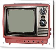 Vintage Tv Set Acrylic Print