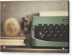 Old Typewriter Acrylic Print by Alicia Llop