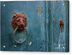 Old Venetian Door Knocker Acrylic Print