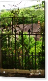 Old Victorian Gate - Peak District - England Acrylic Print by Doc Braham