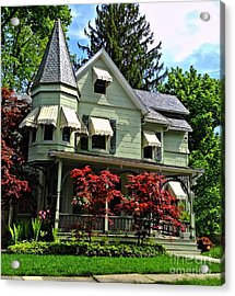 Acrylic Print featuring the photograph Old Victorian With Awnings by Becky Lupe