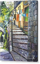 Old Village Stairs - In Tuscany Italy Acrylic Print