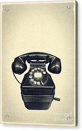 Old Vintage Telephone Acrylic Print by Edward Fielding