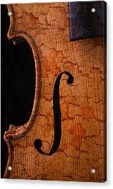 Old Violin Close Up Acrylic Print