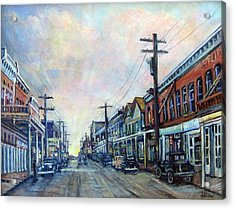 Old Virginia City Acrylic Print by Donna Tucker