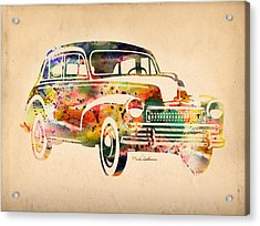 Old Volkswagen Acrylic Print by Mark Ashkenazi