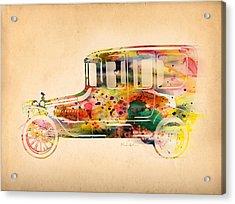 Old Volkswagen3 Acrylic Print by Mark Ashkenazi