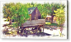 Old Wagon At Wheeler Farm Acrylic Print