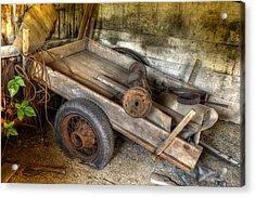 Old Wagon In The Barn Acrylic Print