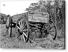 Old Wagon Acrylic Print by Mike Flynn