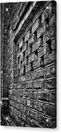 Old Wall Architectural Detail Acrylic Print by Andrew Crispi