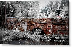 Acrylic Print featuring the pyrography Old Wall by Evgeniy Lankin