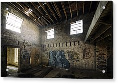 Old Warehouse Interior Acrylic Print