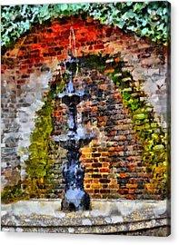 Old Water Fountain Acrylic Print