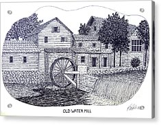 Old Water Mill Acrylic Print by Frederic Kohli