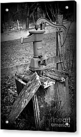 Old Water Pump Bw Acrylic Print