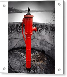 Old Water Pump Kinsale Acrylic Print by Maeve O Connell