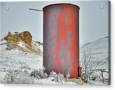 Old Water Tower Acrylic Print by Eric Nielsen