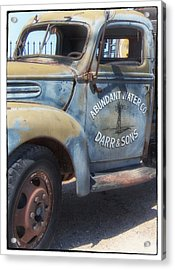 Old Water Truck Acrylic Print